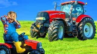 Traktor und Bauernhof Tier Geschichten mit Spielzeug für Kinder