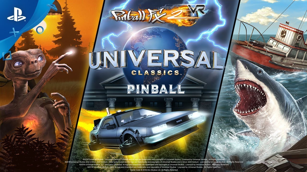 Pinball FX2 VR Adds Back to the Future, E.T., Jaws Tables