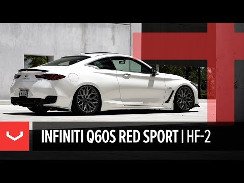 Vossen Hybrid Forged HF-2 Wheel | Infiniti Q60S Red Sport Coupe | Anthracite
