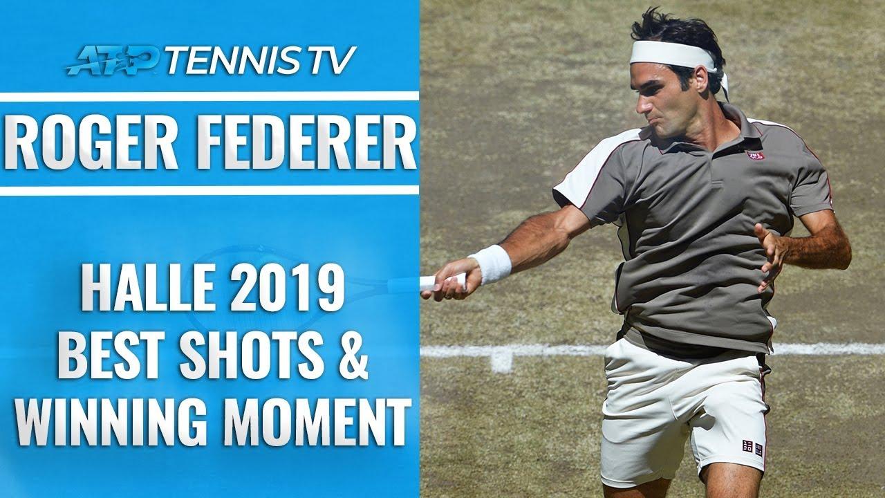 Лучшие удары Федерера на турнире в Галле (ВИДЕО)