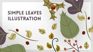 Simple Leaves Illustration | Illustrator Tutorial