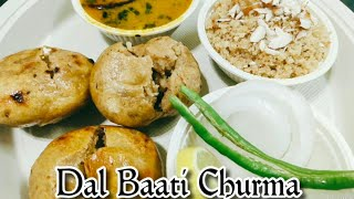Rajasthani Dal Bati Churma Recipe || How To Make Dal Bati Churma