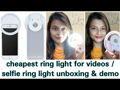 Unboxing & Demo of selfie Ring light   Cheapest Ring light for youtube videos and vloging videos