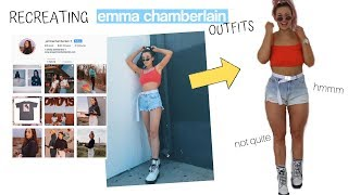 RECREATING EMMA CHAMBERLAIN'S OUTFITS... HOW DID I DO??