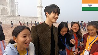 THIS WAS UNEXPECTED IN TAJ MAHAL!!   KOREAN DOST VLOG