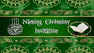 Muslim Naming Ceremony Invite Video According to Sunnah | Aqiqah Ceremony Invitation
