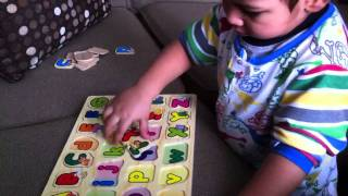 Educational Video for Kids   The Alphabet Puzzle   Learning letters of The Alphabet
