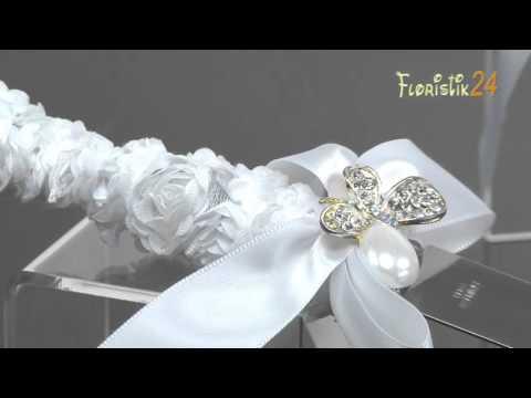 Floristik24 Hochzeit Tortenmesser Set Silber, Weiß
