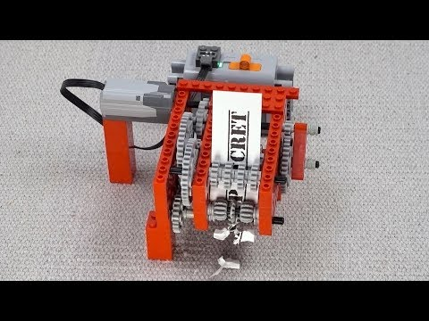 Shredding Paper with Lego Gears