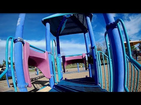 Geprc CineEye 79HD Modded - FPV Windy Morning Park Playground Equipment
