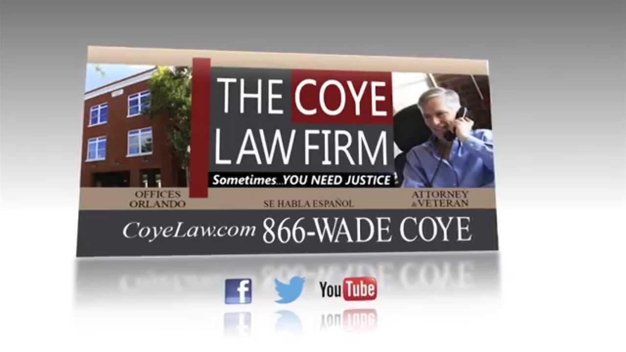 Veteran Wade Coye: Expert Orlando Injury Attorney