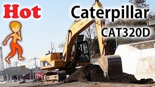 キャタピラー CAT320Dショベルカー |ベストアングルで工事現場の風景|はたらくくるま