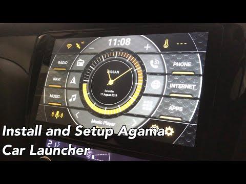 Car Launcher AGAMA installed on Eonon GA7153S Car Media
