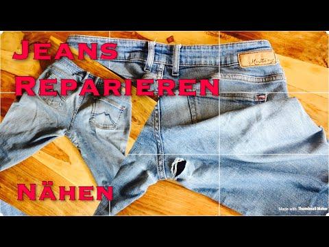 Gerissene Jeans reparieren, für Anfänger geeignet, nähen, flicken, Loch im Schritt, Nachhaltigkeit