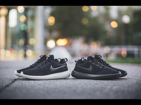 "Review & On-Feet: Nike Roshe Two ""Black/Sail"" & ""Triple Black"""