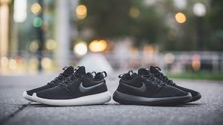 "Review & On-Feet: Nike Roshe Two ""Black/Sail"" & ""Triple Black"""