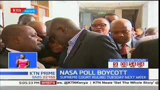 Supreme Court will make ruling on compelling NASA leader Raila Odinga to participate in repeat polls