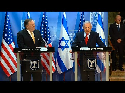 U.S. Secretary of State Mike Pompeo has given Israel's leader a welcome boost at the height of a tight re-election campaign. (March 19)