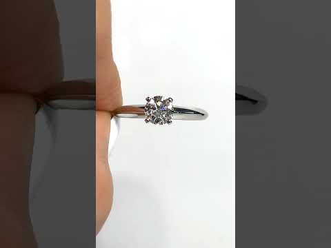 Anillo Único de compromiso Baby en oro blanco 18K Joyería Monterrey Joyería Querétaro La mejor joyería de México