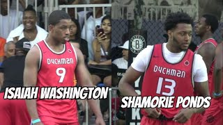 Isaiah Washington & Shamorie Ponds Turn Dyckman Up! SCARY backcourt - Summer Debut - Full Highlights