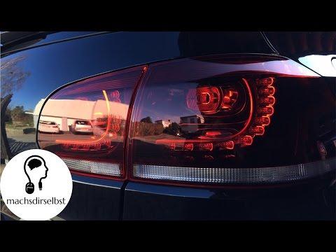 [Golf VI] Rücklichter wechseln/auf LED umrüsten Tutorial (HD)