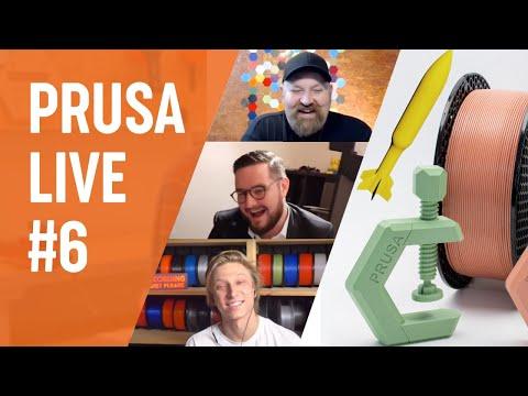 PRUSA LIVE #6 - PrusaPrinters contest winners, Launchsonde meteo-rocket ,MINI FW 4.2, Q/A