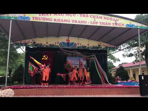 """Múa """"Dòng máu lạc hồng"""" - Lớp 9A - Trường THCS Bình Thuận"""