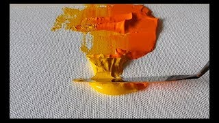 Abstract Painting / How To Use Palette Knife / Create Texture In Acrylics / Demonstration