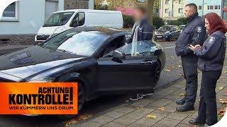 Dreister Mercedes-Fahrer parkt vorm Arbeitsamt falsch und wird frech! | Achtung Kontrolle
