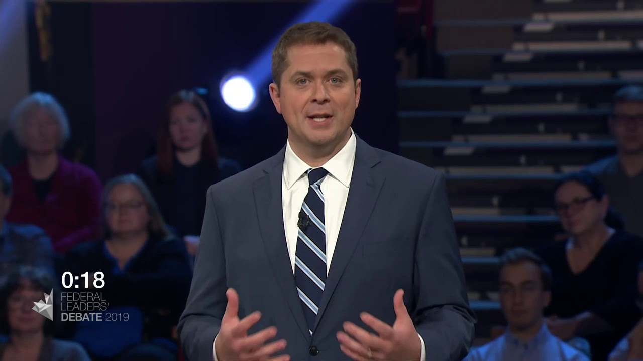 Andrew Scheer answers a question about divisions within Canada