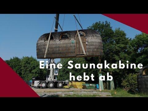 Versetzung einer Saunakabine | Loma-Sauna am Nettebad Osnabrück