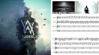 Gambar cover Faded. Alan Walker. Partitura flauta.
