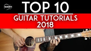Top 10 Guitar Tutorials of 2018 - GuitarZero2Hero Countdown 🎸