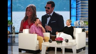 Adam Sandler and Jennifer Aniston's Pizza Party with George Clooney