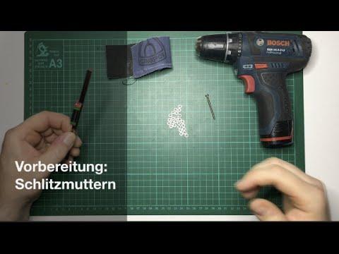 [DICE] Vorbereitung: Schlitzmuttern || preparation: slotted nuts