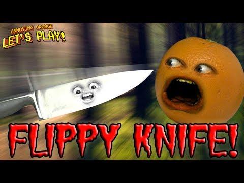 Flippy Knife! 🔪 🍊 😮 [Annoying Orange Plays]