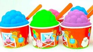 Сюрпризы из кинетического песка и игрушки