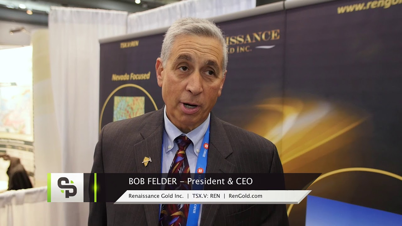 Renaissance Gold Catalyst Clip with CEO Robert Felder at the 2018 PDAC in Toronto