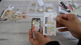 5 Minute DIY Tags | Use Your Paper Scraps | Paper Layered Embellished Tags
