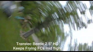 "TransTEC Beetle 2.5"" HOM HD FPV Drone frys Flight Controllers mid flight"