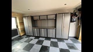 Dream Garage Makeover - PVC Garage Floor Tiles, Garage Cabinets And Wall Mounted Vacuum Garage Style