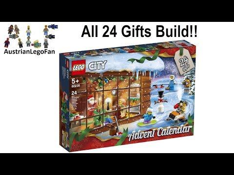 Vidéo LEGO City 60235 : Calendrier de l'Avent LEGO City 2019