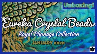 ✨JANUARY 2020 🎁EUREKA CRYSTAL BEADS Royal Plumage COLLECTION ✨ Beaded Jewelry Making, Embroidery Box