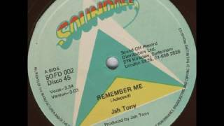 "Jah Tony - Remember Me + Dub - 12"" Soundoff 1979 - RASTAFARI ROOTS 70'S DANCEHALL"