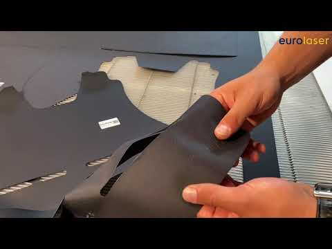 Laser cutting of fire-resistant coated Cordura fabric - DeliFlame by DELCOTEX