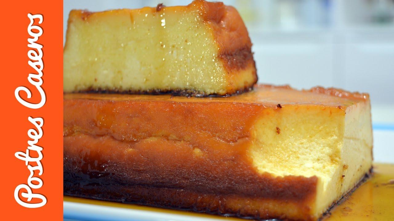 Flan de queso con chocolate blanco | Javier Romero
