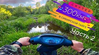 300км на скутере по таёжным лесам - Часть 2
