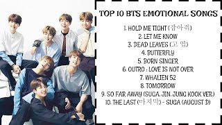 Gambar cover [PLAYLIST] TOP 10 BTS EMOTIONAL SONGS