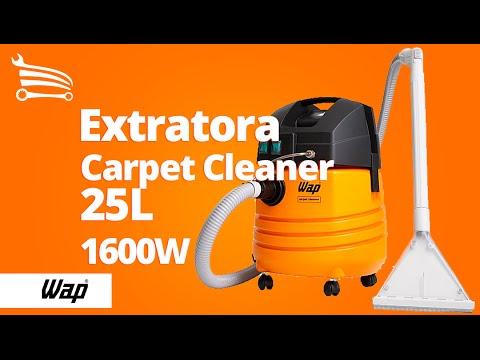 Extratora Profissional Carpet Cleaner 25 Litros - 1.600W  - Video