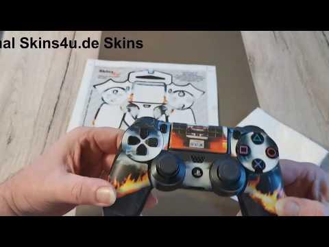 PS4 Controller Skins Tutorial Anleitung richtig verkleben Sticker Aufkleber Playstation 4 - How to